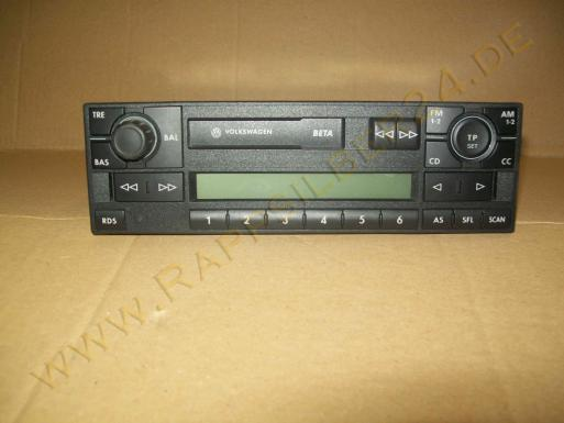 vw polo 6n 6n2 t4 autoradio beta 1j0035152b radio 1j0 035 152 b 9n2 lupo grundig ebay. Black Bedroom Furniture Sets. Home Design Ideas